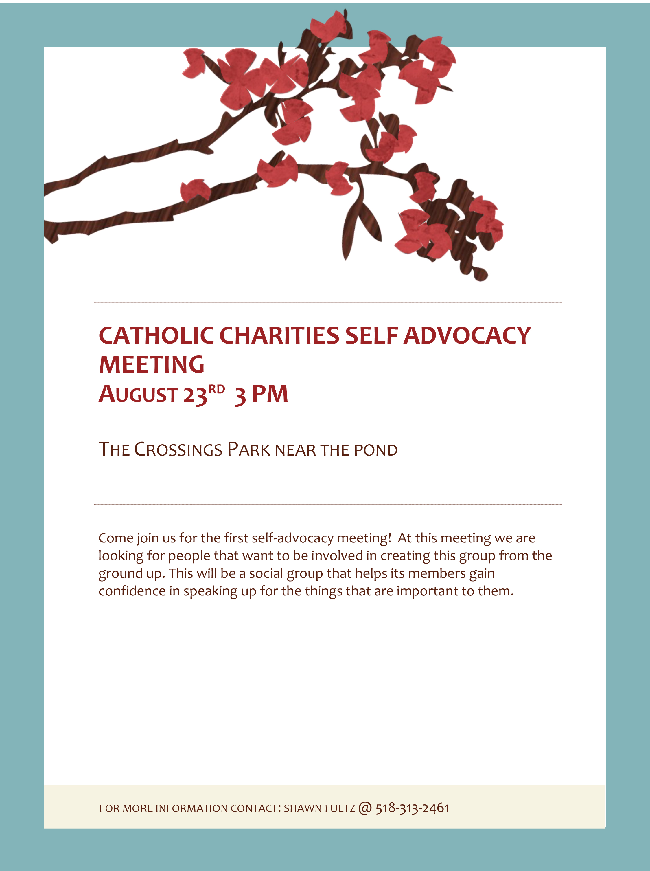 Catholic Charities Self Advocacy Meeting